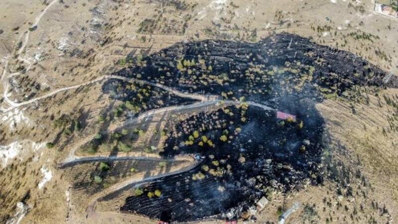 Afyonkarahisar'da dağlık arazide yangın
