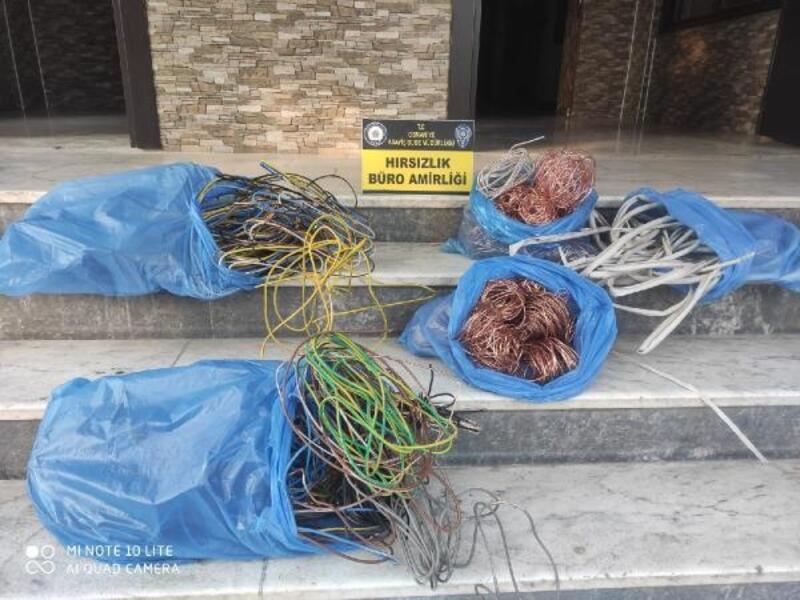 İnşaattan 80 bin liralık kablo çalan 3 şüpheli yakalandı