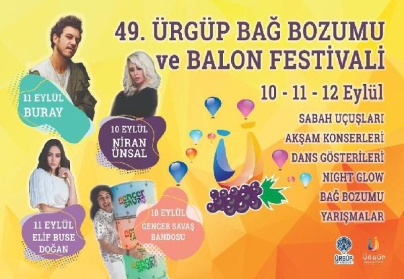 Ürgüp'te bağ bozumu festivali düzenlenecek