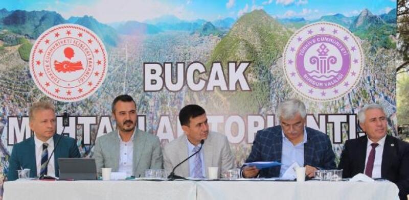 Bucak'ta muhtarlarla istişare toplantısı