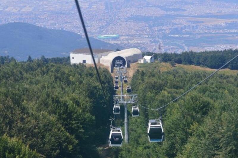 Arap turistler gelmeyince teleferik boş kaldı