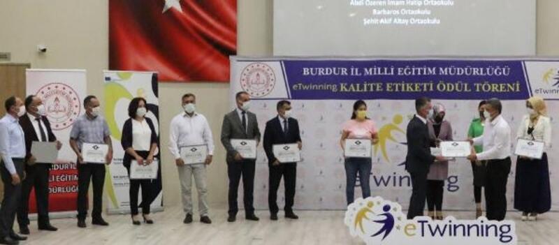 Burdur'da eTwinning belge töreni