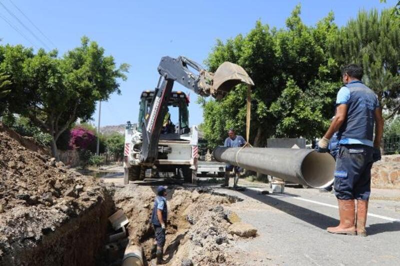 Bodrum'da kanalizasyon hattının 75 kilometresi tamamlandı