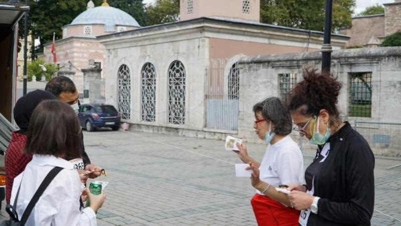 Fatih'de Ayasofya Oryantiring yarışması düzenlendi