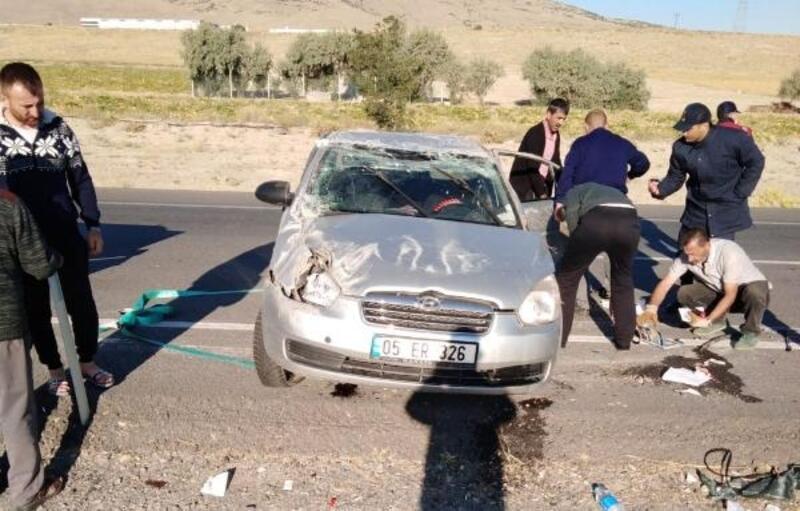 Kayseri'de otomobil takla attı: 4 yaralı