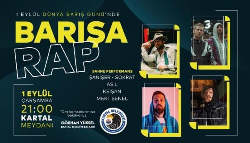 Kartal'da Dünya Barış Günü'ne Özel 'Barışa Rap' Konseri