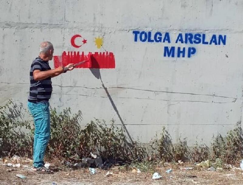 Başkan Bozdoğan, duvar yazılarını sildirdi