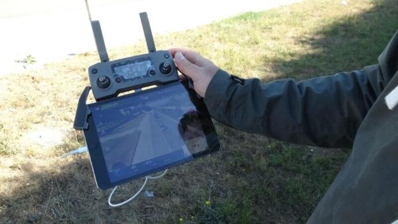 Bolu'da drone ile trafik denetimi