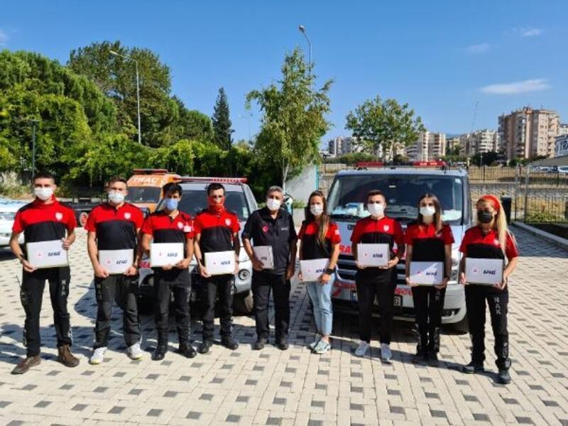 Afet bölgesinde görev yapan NAK gönüllülerine teşekkür belgesi verildi