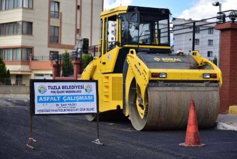 Tuzla'da yılın ilk 8 ayında yaklaşık 32 bin ton asfalt serimi yapıldı