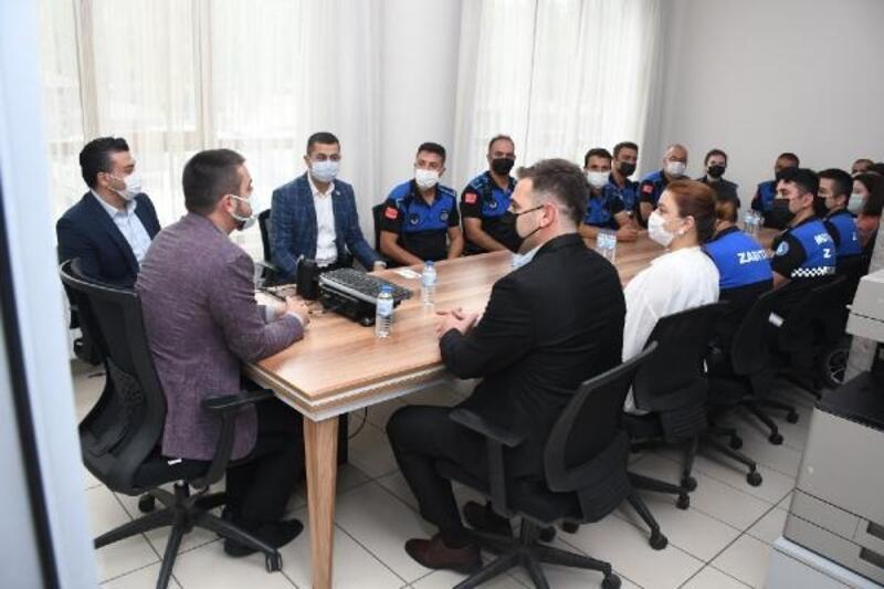 Kestel Belediye Başkanı Tanır, zabıta teşkilatını ziyaret etti