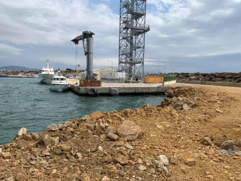 Enez Deniz Gümrük Kapısı rıhtım inşaatı sürüyor