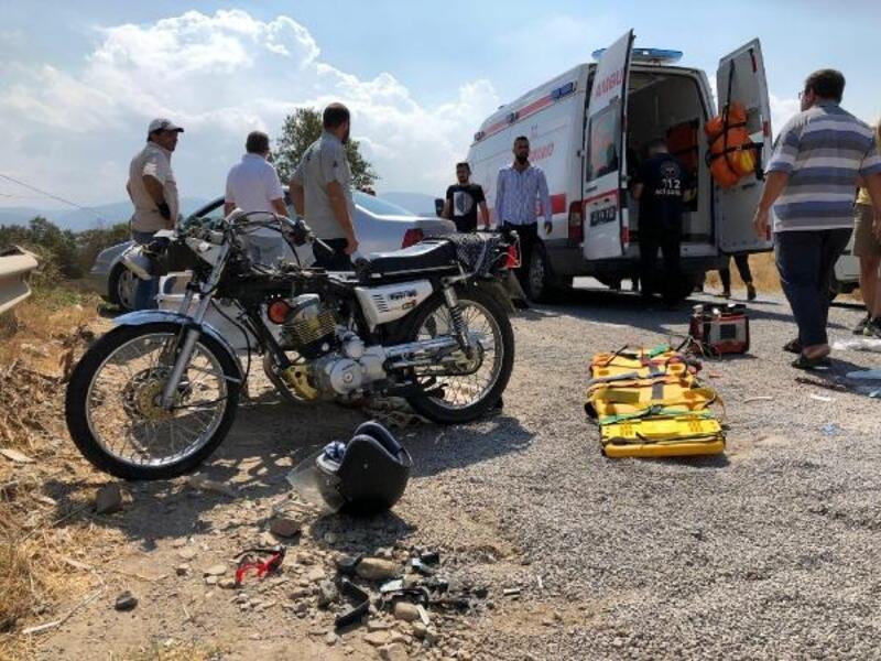Takla atan sepetli motosiklette 4 yaralı