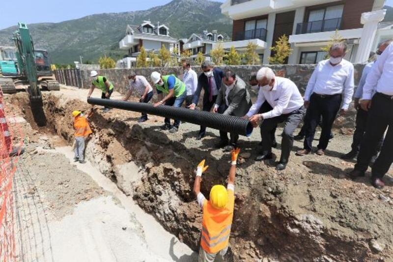 Başkan Gürün, Fethiye kanalizasyon hatlarının 88 kilometresini tamamladık