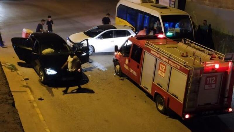 Nusaybin'de trafik kazası: 3'ü çocuk 4 kişi hafif yaralandı