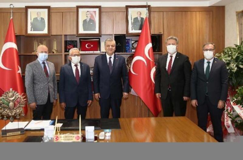 Belediye başkanlarından MHP İl Başkanı İncetoprak'a ziyaret