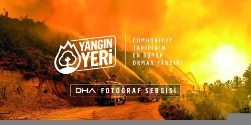 DHA'dan büyük yangının fotoğraf sergisi