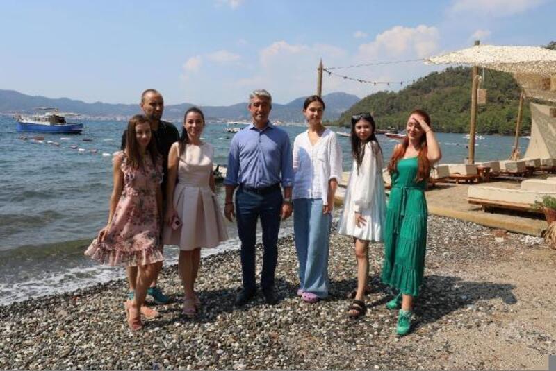 Rus sosyal medya fenomenleri Marmaris'i ziyaret etti
