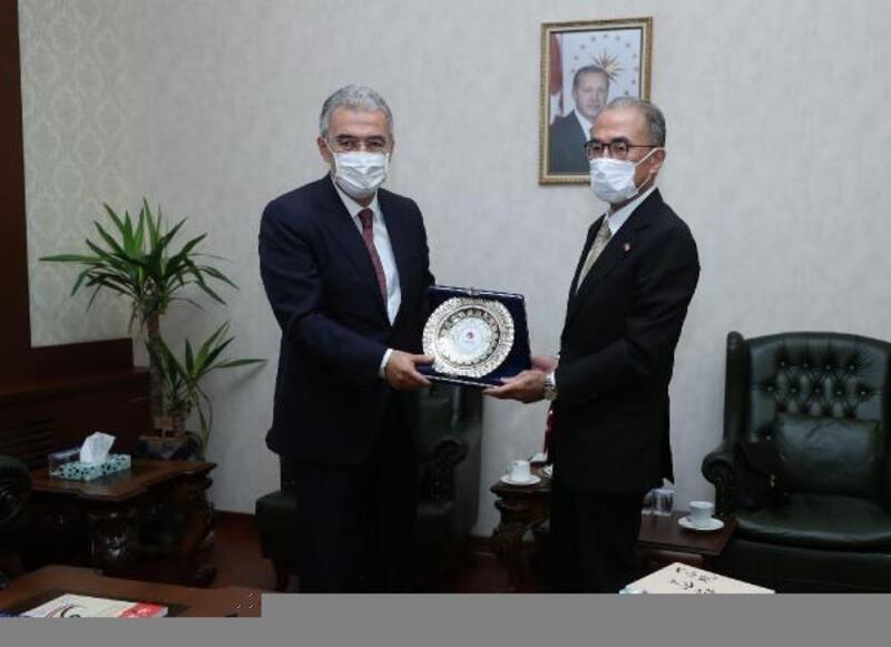 Japonya'nın Ankara Büyükelçisi Kazuhiro Suzuki, Vali Ayyıldız'ı ziyaret etti