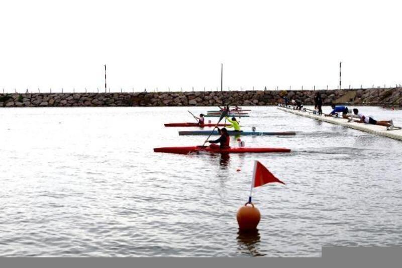 Ordu'da durgun su yarış heyecanı