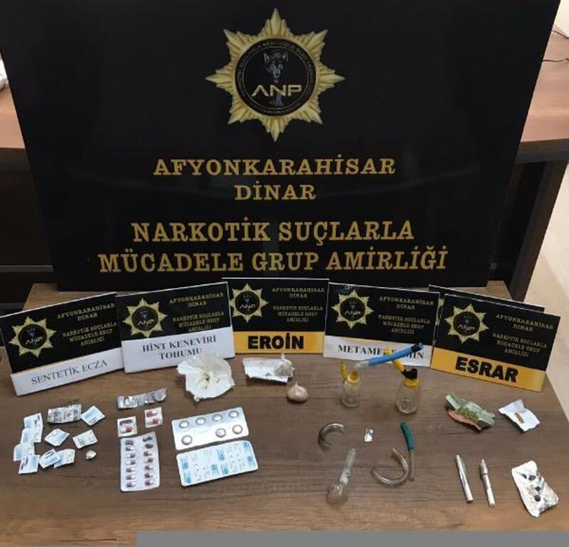 Dinar'da uyuşturucu operasyonu
