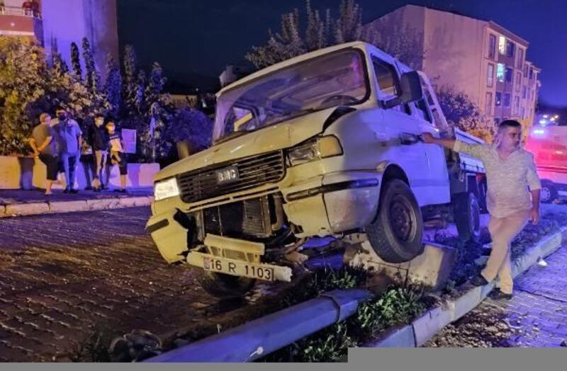 Mustafakemalpaşa'da kaza; 1 yaralı