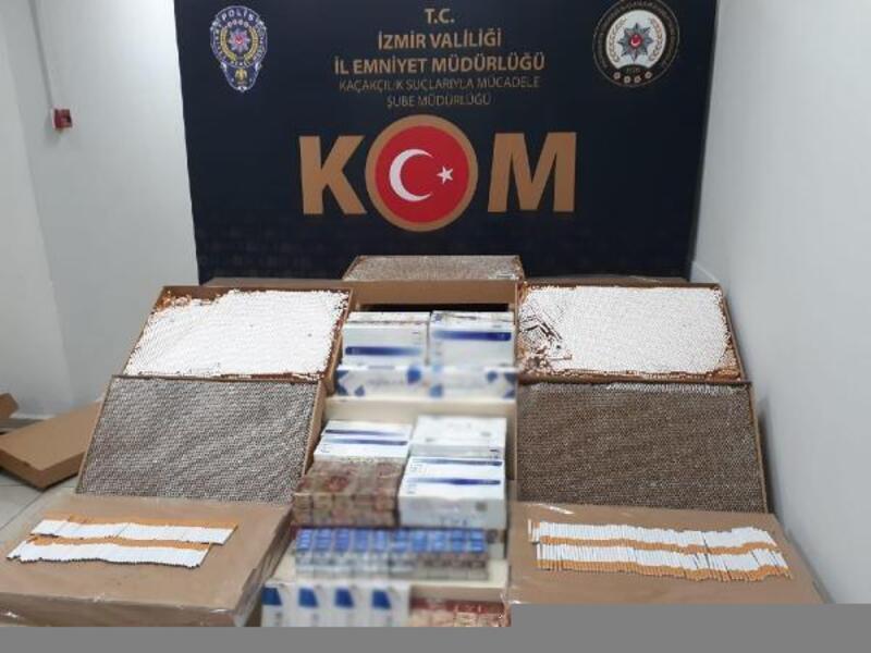 İzmir'de piyasa değeri 350 bin lira olan kaçak ürün ele geçirildi