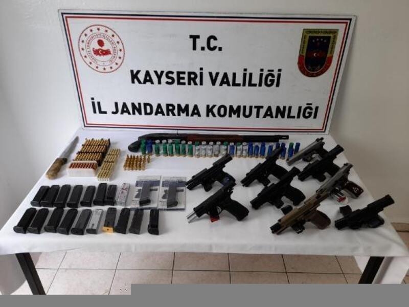 Kayseri'de kaçak silah ticareti operasyonu: 9 gözaltı