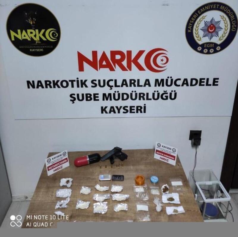Kayseri uyuşturucu operasyonu: 2 gözaltı
