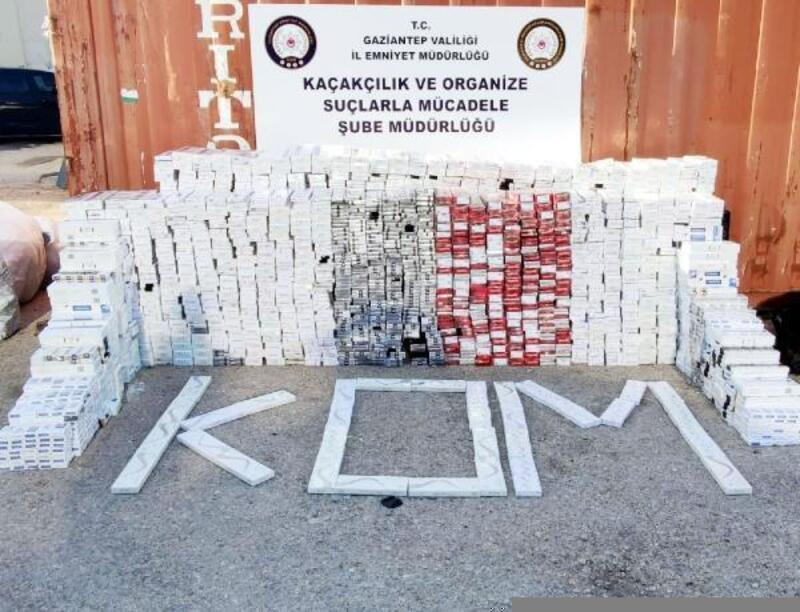 Gaziantep'te kaçak sigara baskınına 2 gözaltı