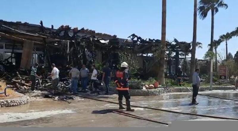 Mut'ta 2 işyerinde yangın