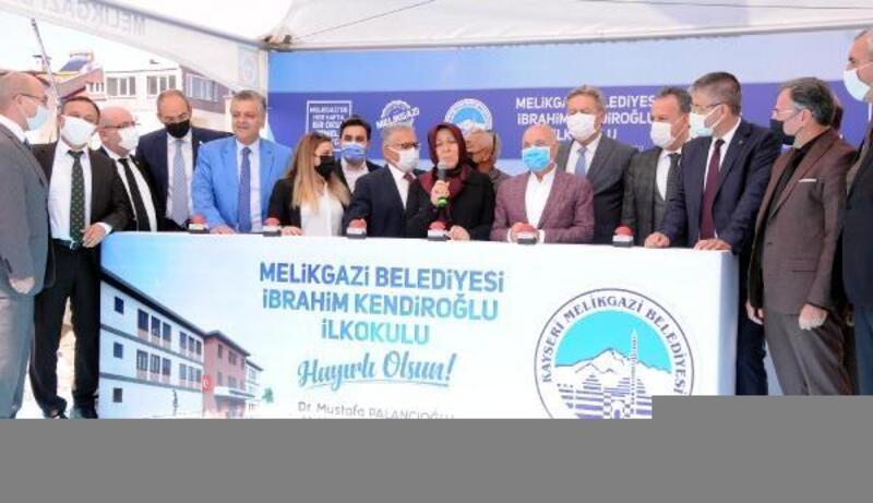 Melikgazi'de İbrahim Kendiroğlu İlkokulunun temeli atıldı