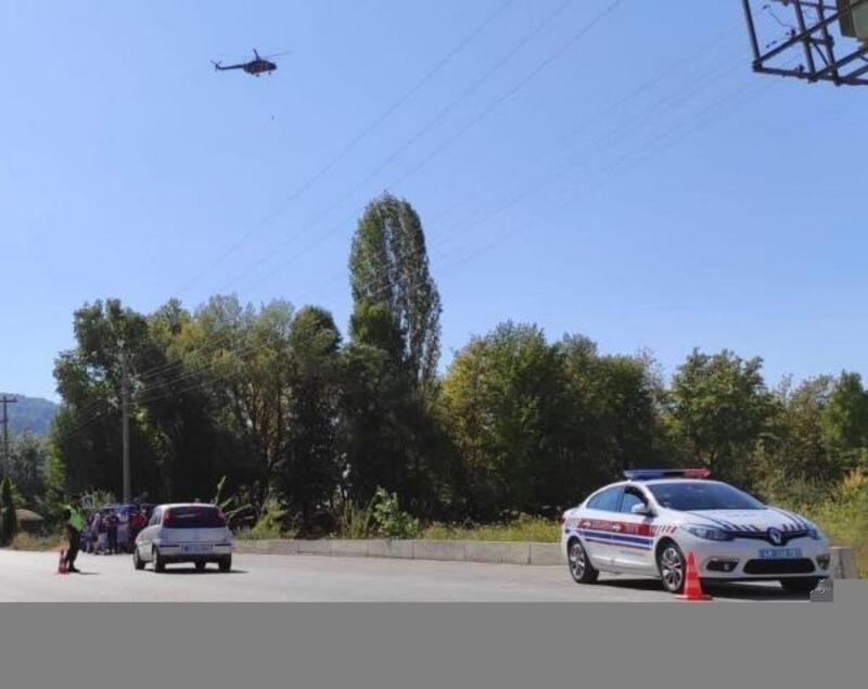 Muğla'da havadan trafik denetimi, 7 sürücüye ceza