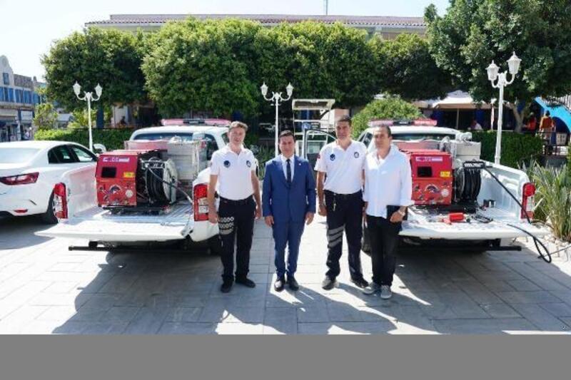 Bağışlanan iki araç, yangınlarla mücadelede kullanılacak