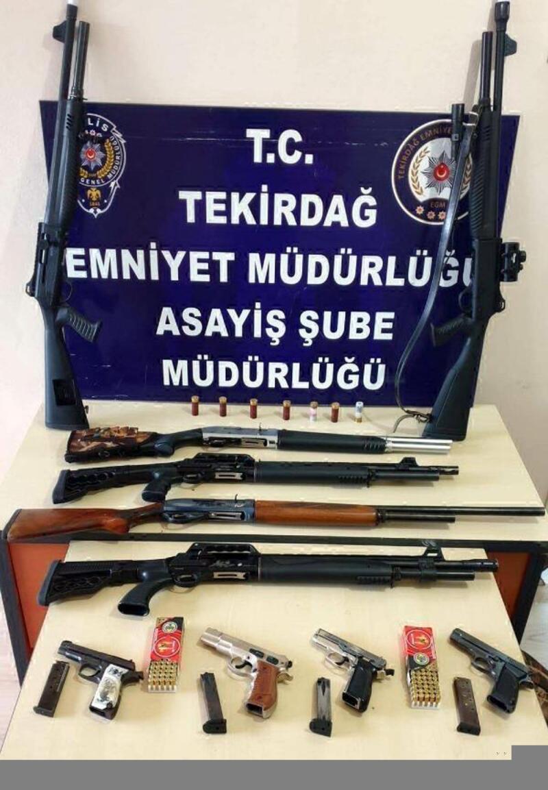 Tekirdağ'da asayiş operasyonu: 10 gözaltı