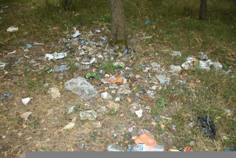 Edirne'de girişi 2 aydır yasak olan ormanlık alanı çöplüğe çevirdiler