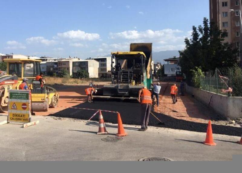 Güneştepe'de asfalt kaplama çalışmaları