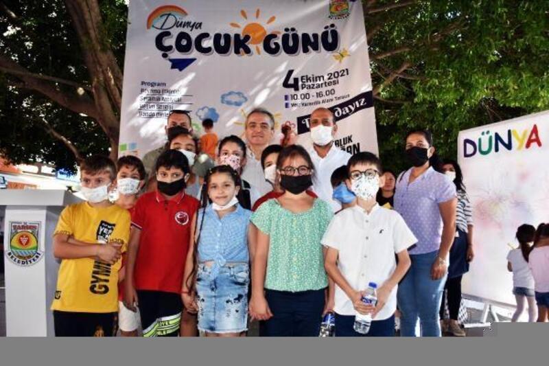 Tarsus'da çocuklar doyasıya eğlendi