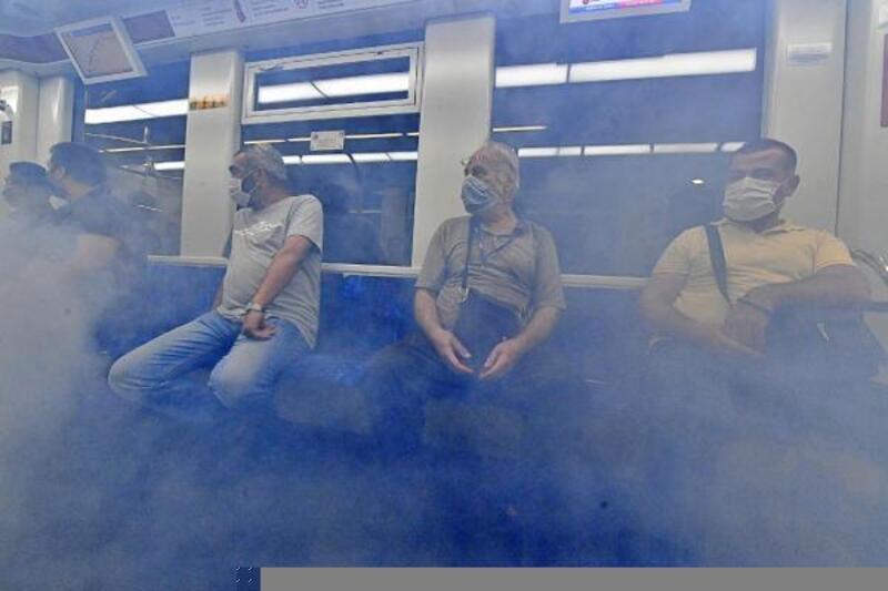 İzmir Metrosu'nda yangın tatbikatı