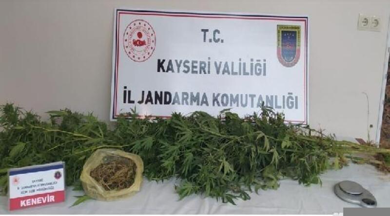 Kayseri'de uyuşturucu operasyonu: 1 gözaltı