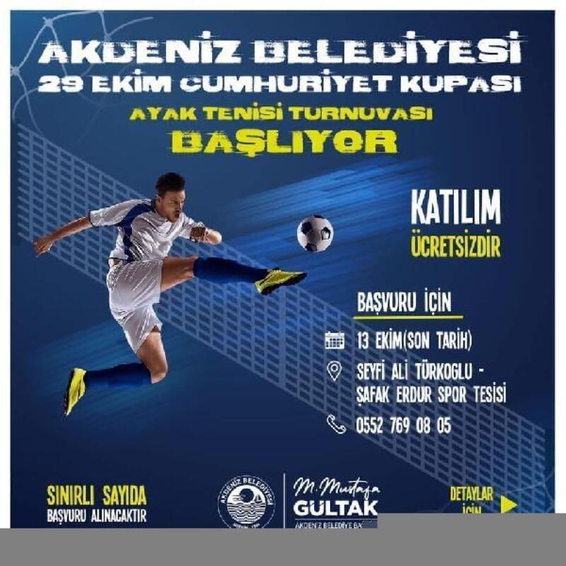 Akdeniz'de ayak tenisi turnuvası başlıyor