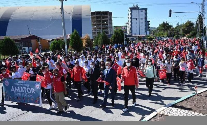 Osmaniye'de amatör spor haftası, kortej yürüyüşü ile başladı