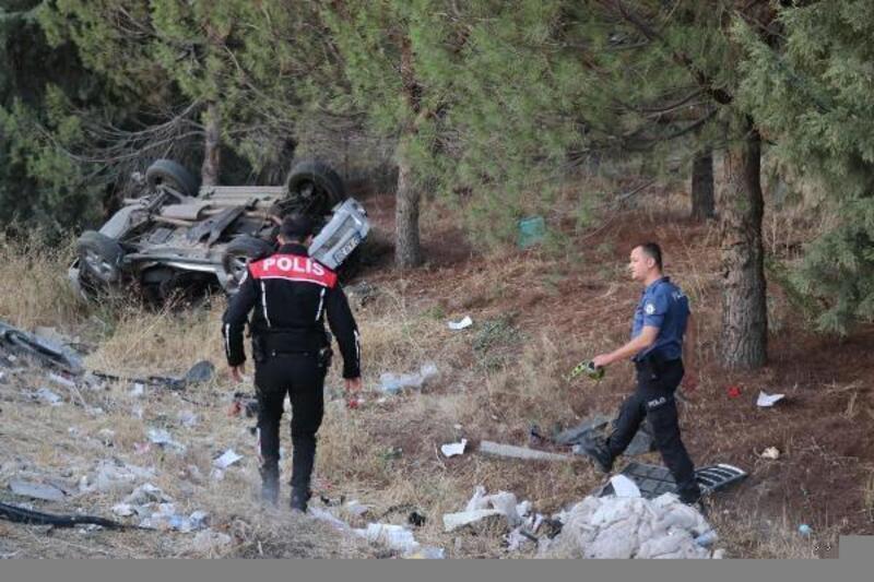 Şarampole devrilen otomobilin sürücüsü yaşamını yitirdi