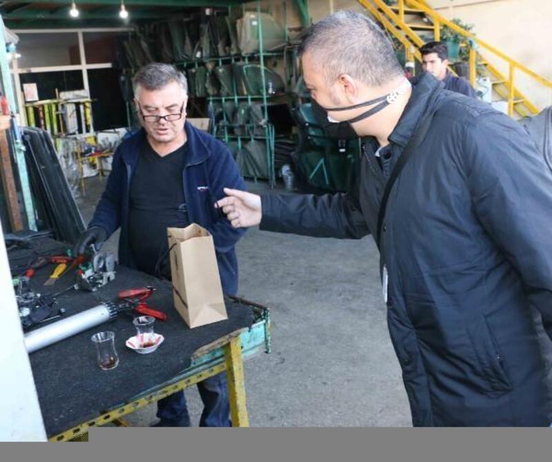 Kartal Belediye Başkanı Yüksel ve KİMER Ekibi Kartal Oto Sanayi Sitesi esnafını ziyaret etti