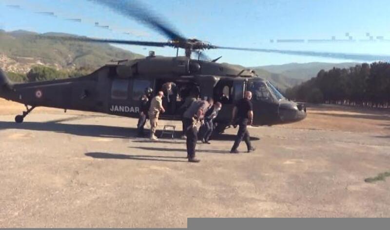 Vali Yılmaz, helikopterle trafik denetimine katıldı