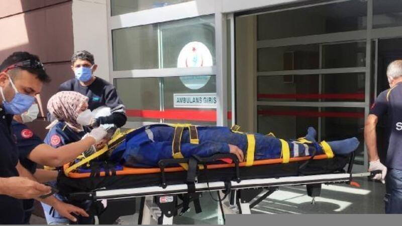 Adıyaman'da başına demir düşen işçi yaralandı
