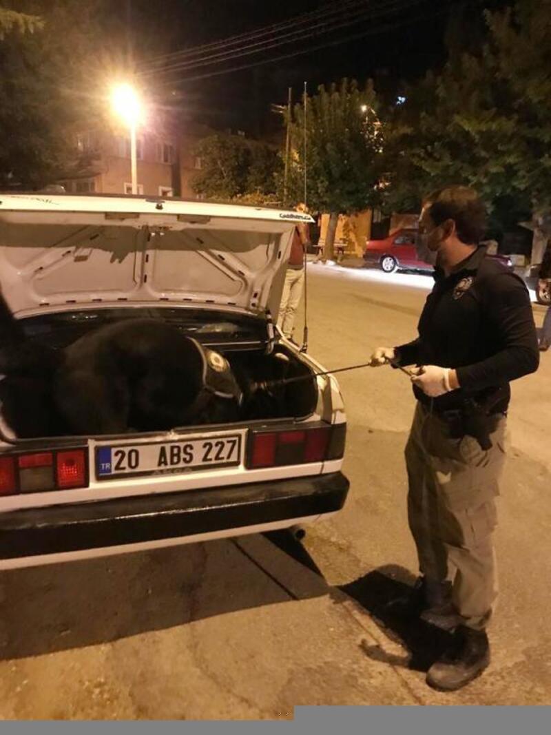 Dinar'da polis denetimi