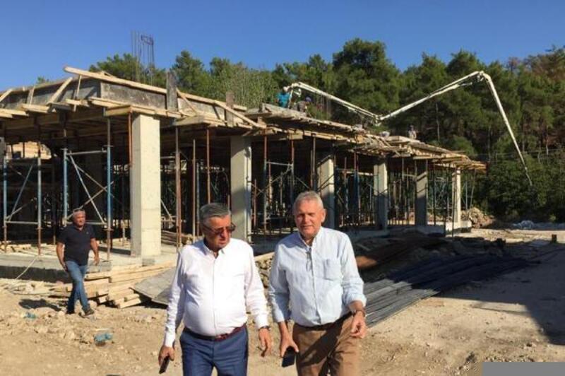 Başkan Topaloğlu, yapımı devam eden anaokulunda incelemede bulundu