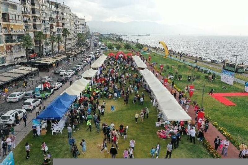 Konak'ta 'Patilerin Festivali' düzenlendi
