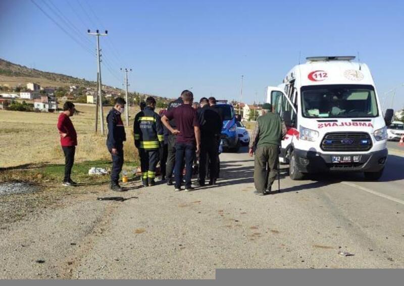 Konya'da iki otomobil çarpıştı: 11 yaralı
